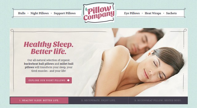 Pillow Company Identity & Website